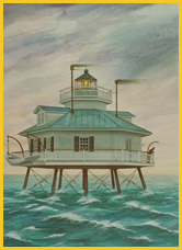 Hooper Straight Lighthouse Watercolor